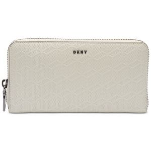DKNY Bryant Zip-Around Continental Wallet, Ivory